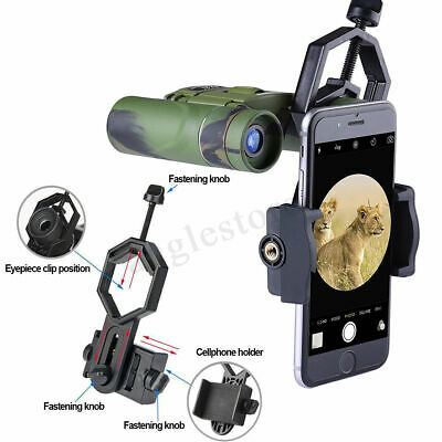 Mobile Phone Camera Adapter Spotting Telescope Scope Microscope Mount Holder