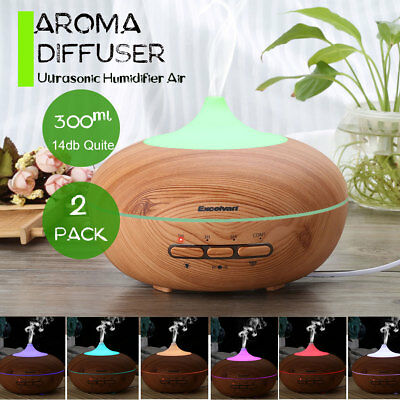 2X Essential Aroma Aromatherapy Diffuser Oil Ultrasonic Air Humidifier Purifier