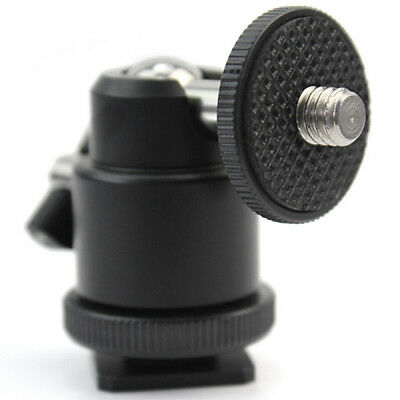 "Black 1/4"" 360 Swivel Ball Head Screw For Camera Tripod DSLR Ballhead Stand YUI"