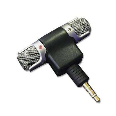 Professional Stereo Microphone Mic 3.5mm Mini Jack Recording for Smart iPhone DI