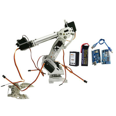 WIFI Metal 8-DOF Robot Arm Claw Kit MG-996R Servo Power For Arduino Silver