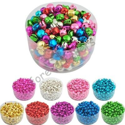 Colorful Iron Loose Bells DIY Bracelet Hot Christmas Jingle Bell 100Pcs 6*8mm