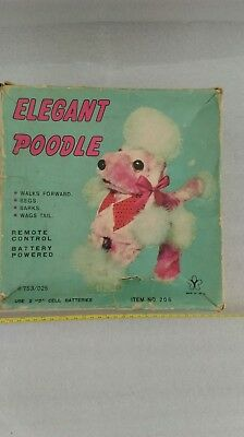 Vintage Battery Operated Toy Poodle Dog in Box