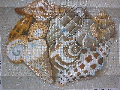"New Ehrman ""shells"" Tapestry Canvas By Kaffe Fassett **canvas Only*****"