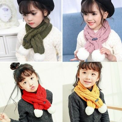 Warm Scarf Kids Baby Boy Girl Knitted Shawl Neck Wraps Scarves For Autumn&Winter