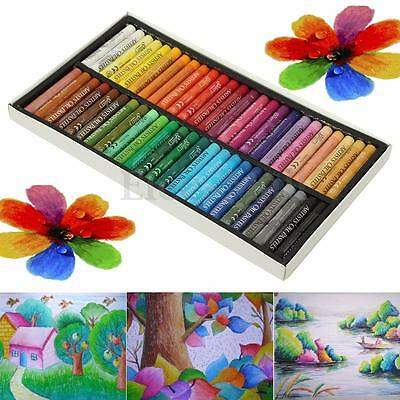 50 Color Non-Toxic Oil Soft Pastel Children's Galley Drawing Crayons Set