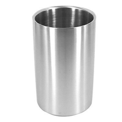 Ice Bucket Stainless Steel Double Wall Wine Cooler Bottle Drink Chiller New