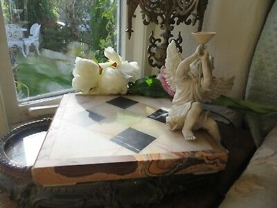 SUPERB ANTIQUE FRENCH  ART DECO MARBLE SOCLE / STAND  ~1930's ~ PERIOD DISPLAY