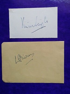 VIVIEN LEIGH - Signed (  Gone With The Wind ) & Laurence Olivier - Autograph