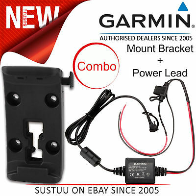 Garmin Motorcycle Mount Bracket Holder+Power Cable│Zumo 340LM 345LM 350LM 390LM