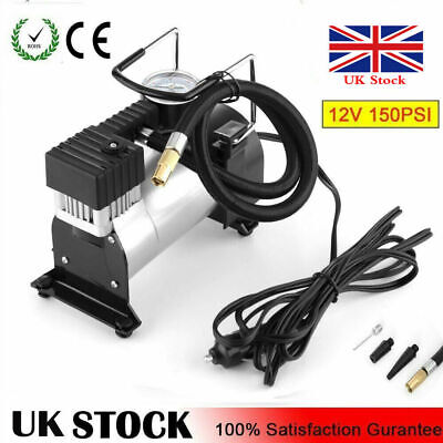 Heavy Duty 12v Car Air Compressor 100PSI Tyre Deflator CAR VAN Inflator Pump UK