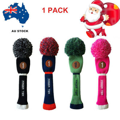 1PCS Golf Pom Pom Headcover Driver Fairway Hybrid Golf Club Head Covers Gift AU