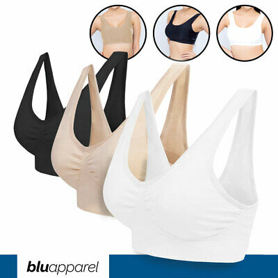 Pack of 3 6 9 Seamless Comfort Full Cup Non-Wired Bra Stretch Crop Top Unpadded