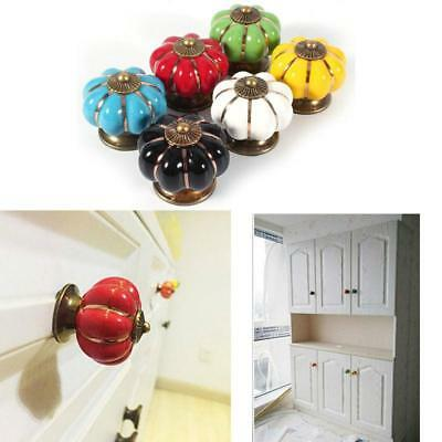 Ceramic Door Knobs Cabinet Drawer Cupboard Locker Furniture Pull Handle CF