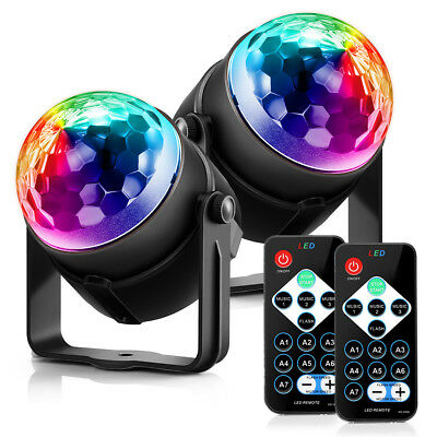 2X Christmas Xmas RGB Stage Lighting LED Party Effect Disco KTV Ball Light Lamp