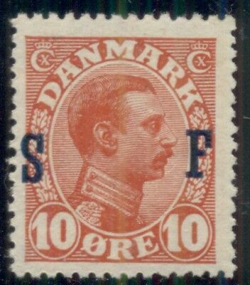 Dänemark #M2a (168v1) 10ore Militär Briefmarke Nh Inverted 'S', VF, Scott
