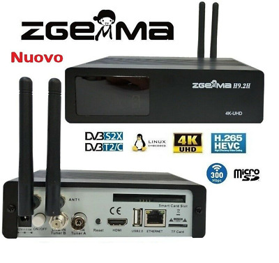 ZGEMMA H9-2H 4K FULL HD + QUAD CORE + WiFi DUAL BAND