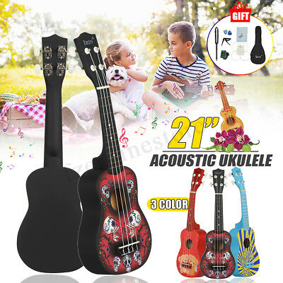 21'' Mini Acoustic Guitar 4 String Ukulele for Beginners Musial Concert Wood