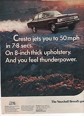 Vauxhall Cresta - Advertisement Page - Look !!