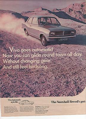 Vauxhall Viva Automatic - Advertisement Page - Look !!