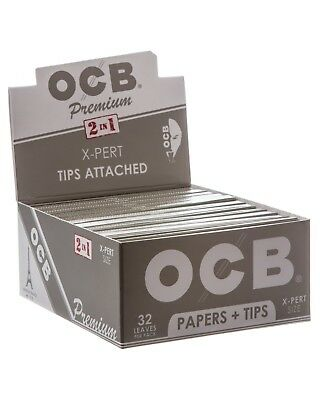 10x Packs OCB X Pert King Size With Tips ( 32 Papers Each Pack ) Rolling Paper