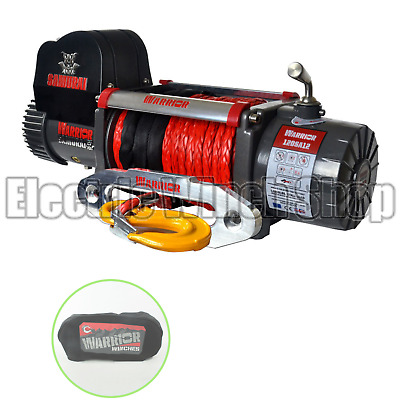 Warrior Samurai S12000 12v Winch with Synthetic Rope & Winch Cover