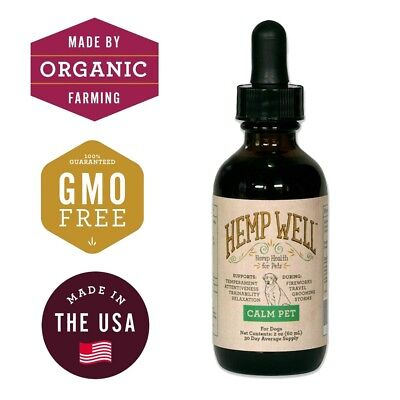 Hemp Well Pet Relief Hemp Oil for Dogs 100% Organic Dog Hemp Oil Anxiety Stress