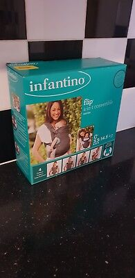 Brand New Infantino Flip Advanced 4-in-1 Convertible Baby Carrier Light Grey