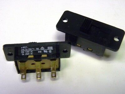 DPDT Slide switch- 10 Pieces- 10A 125VAC -FREE SHIPPING !!!!!!!!!!!!!!!!!!!!!!