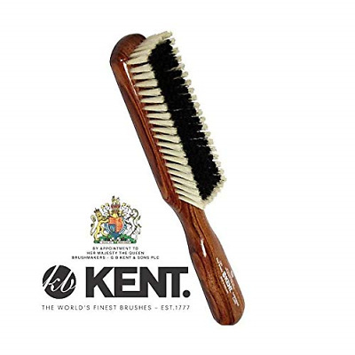 Kent CP6 Clothes Brush Dark Wood for Cashmere Care - Black and White Pure
