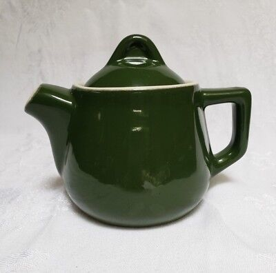 Vintage H.F. Coors Chefsware GREEN Individual Teapot #51 Restaurant Ware