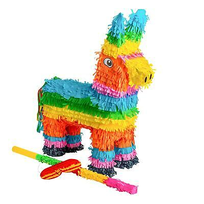 Donkey Pinata and Buster Stick & Blindfold Set Game Toy Party Supplies Birthday