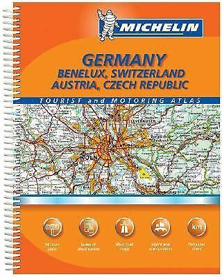 Maps Germany Benelux Switzerland Austria Czech Republic Road Atlas Michelin