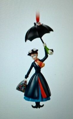 2018 Disney Store Sketchbook Mary Poppins Umbrella Ornament Nib