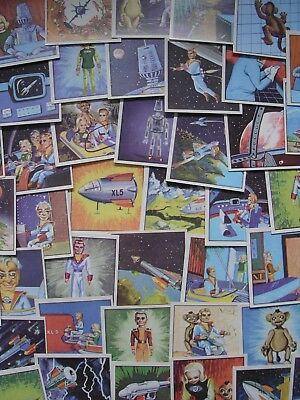 Como Confectionery Adventures Of Fireball Xl5 Facsimile Large Cards Set Of 52