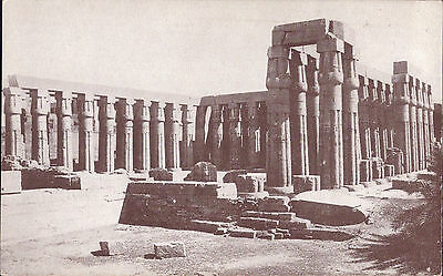 Africa Egypt old PC Luxor Temple Papyrus Columns Amenhotep III post card photo