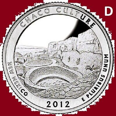 2012 S 5 National Park ATB America the Beautiful Quarters Set ~ 5 Unc 2nd's