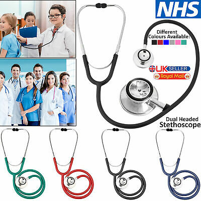 New Medical EMT Dual Head Stethoscope for Pro Nurse Doctor Vet Student Health UK