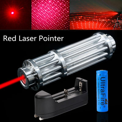 Military Red Laser Pointer Pen Zoom Burning 1mW 650nm Beam Light+18650+Charger
