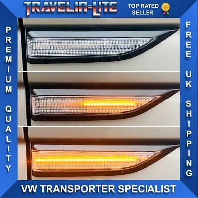 VW T6 Dynamic Flowing LED Side Repeaters Clear Great Quality 2015 Onwards