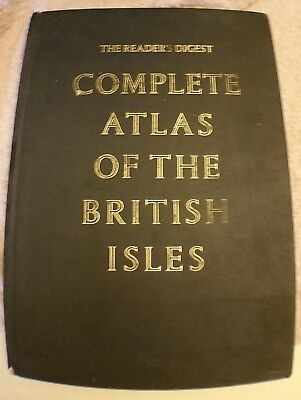 Readers Digest Complete Atlas Of The British Isles Hardcover 1965. 40 x 28 x 3cm