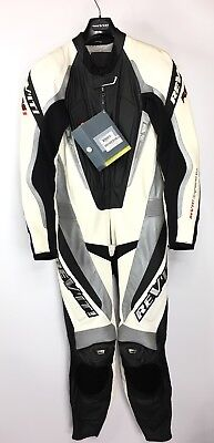 Revit One Piece RS1 Kneesliders Motorcycle Leather Suit Size 50 - Mens Small