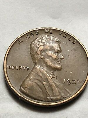 1937 Lincoln Wheat Penny DDO Obverse Struck Grease Mint Error Coin Lot N61