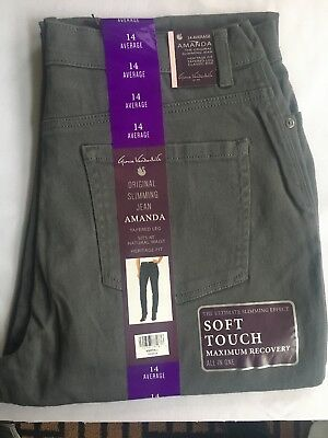 Gloria Vanderbilt Amanda Ultra Stretch HERITAGE FIT  Slimming Jean Sz 14 Aver