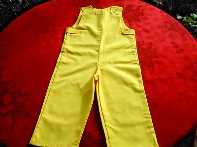 """grants"" Toddler Overalls In Very Good Unused Condition, Sunshine Yellow C. 1960"