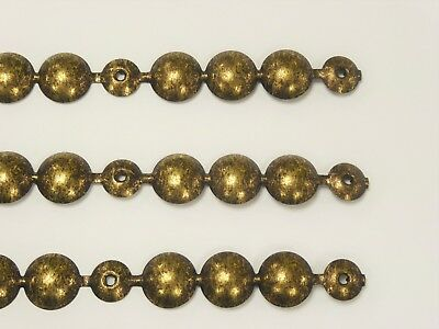 LARGE 16mm UPHOLSTERY NAIL / TACKS / STUDS STRIPS - OLD GOLD