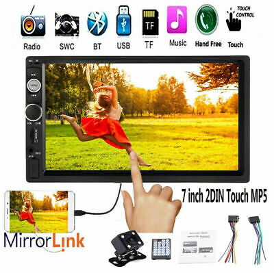 "7""Double Din Car Stereo Radio Touch Bluetooth MP5 Player Head Unit FM USB+Camera"