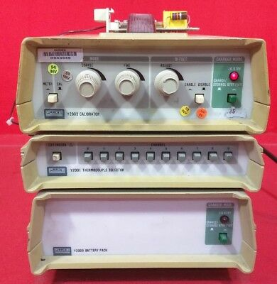 Fluke Y2003, Y2001, Y2009 Thermocouple Calibrator, Selector, And Battery Pack
