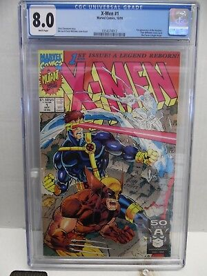 X-MEN #1 1991 CGC 8.0 with FREE SHIPPING!