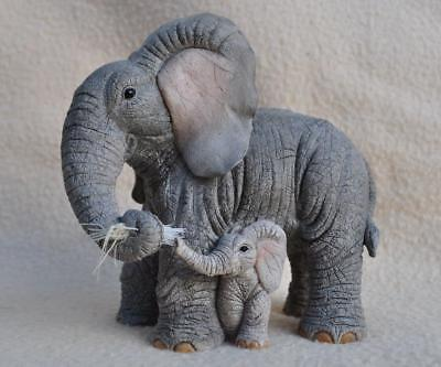 """Country Artists Tuskers Elephant """" Loving Touch """" Figure 90985"""